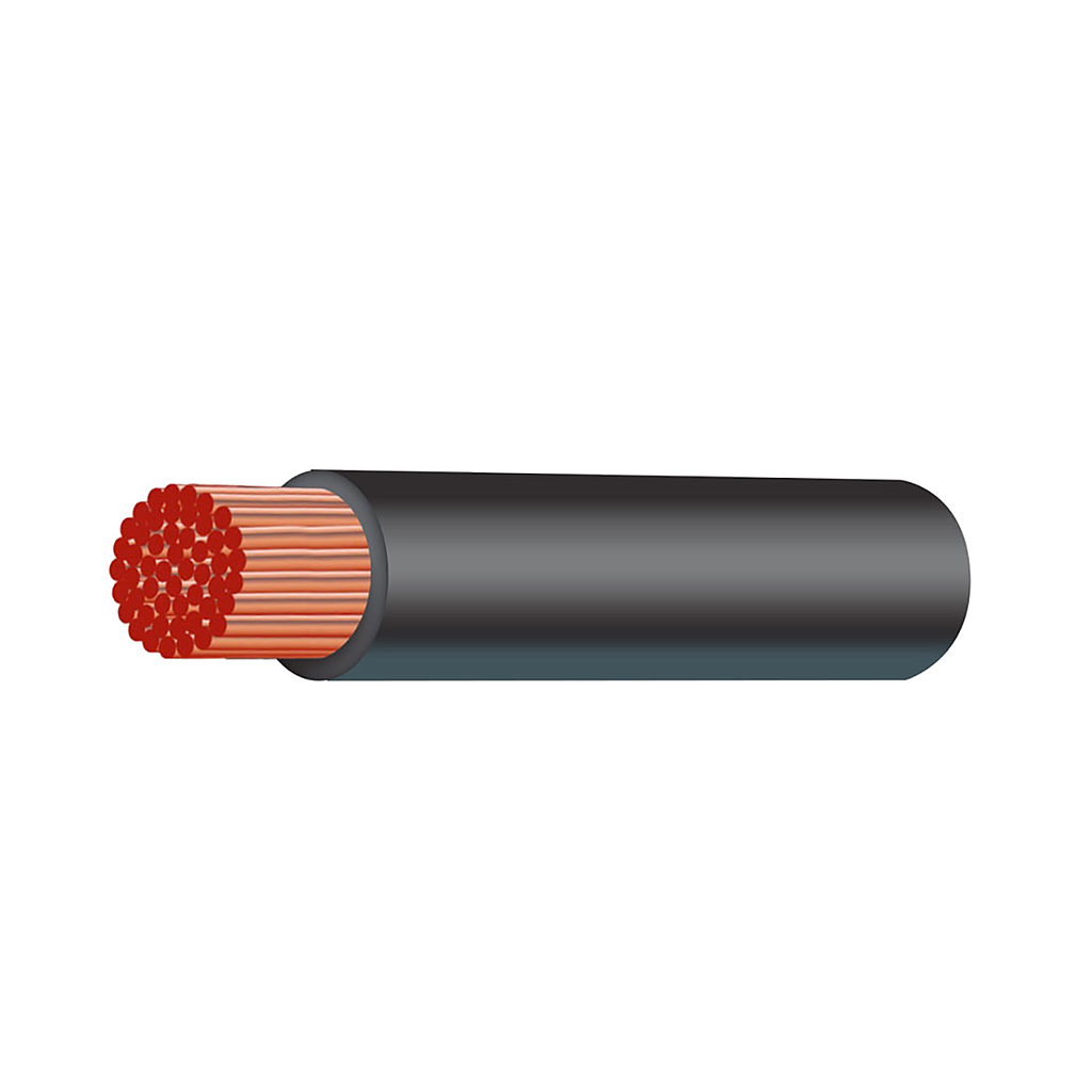 CABLE 64MM SQ BLACK SINGLE 00B&S