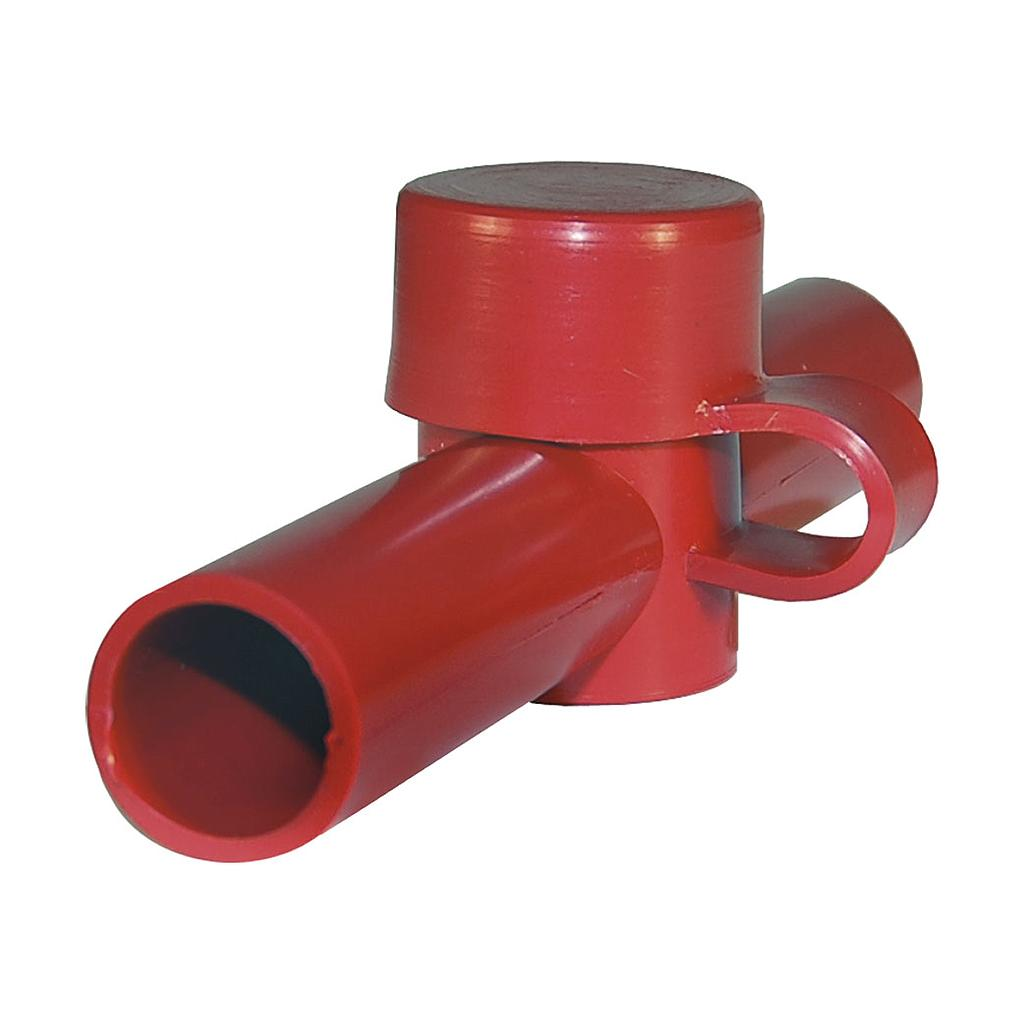 CABLE CAP DUAL ENTRY RED
