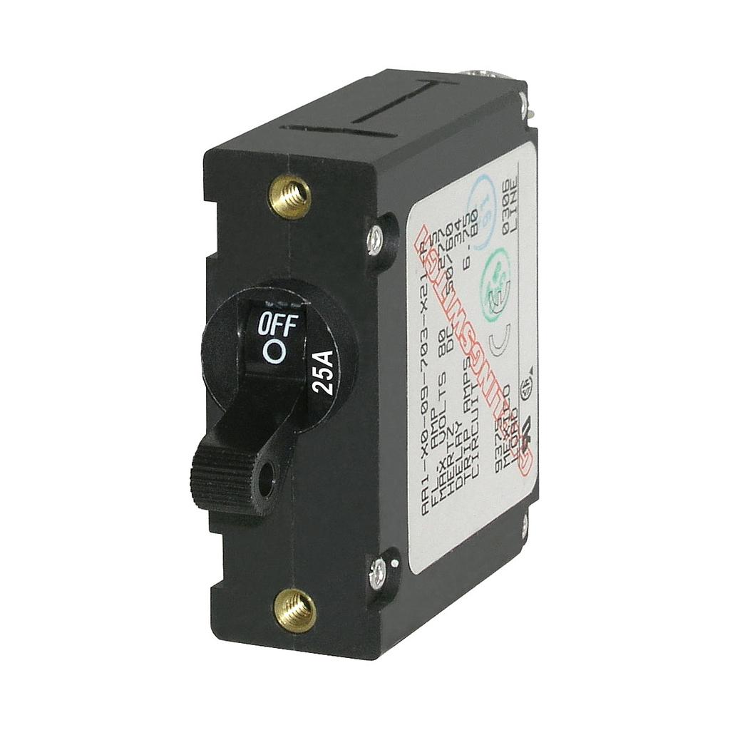 CIRCUIT BREAKER AA1TOGGLE 25A BLK