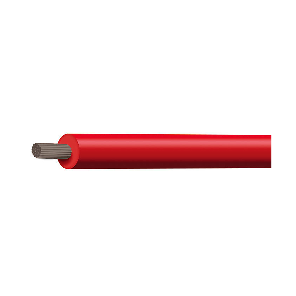 CABLE 4MM SQ TINNED RED SINGLE